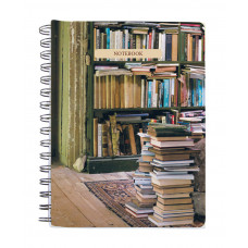 At Home with Books Spiral Notebook